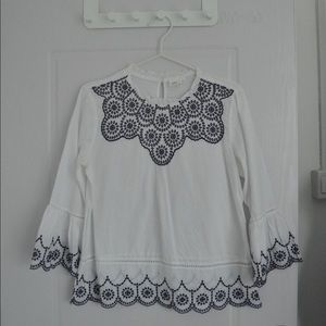 GAP Embroidered Bell-Sleeve Blouse